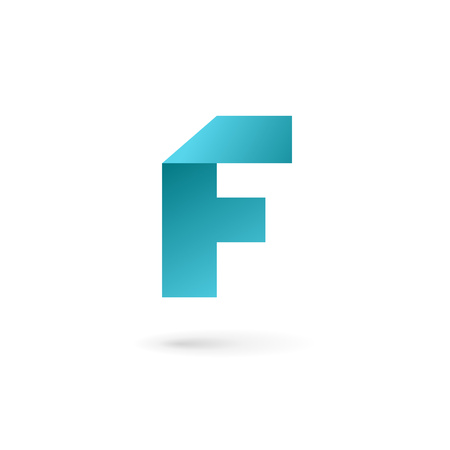 letter f: Letter F icon design template elements Illustration