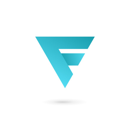 Letter F  icon design template elements Illustration