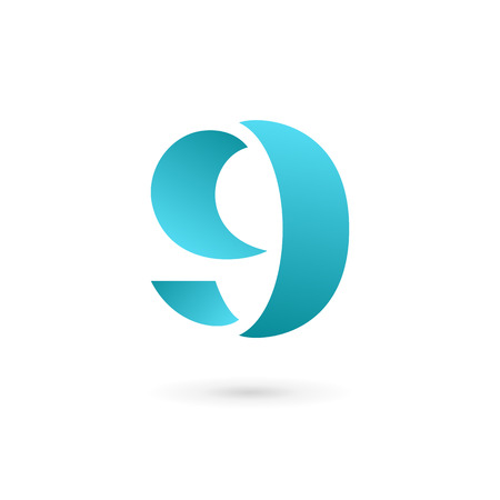 Letter G number 9 logo icon design template elements Vector