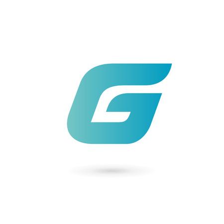 letter g: Letter G number 6 icon design template elements