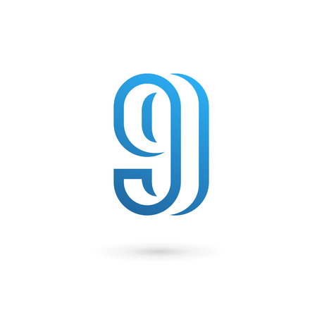 Letter G number 9 icon design template elements Vector