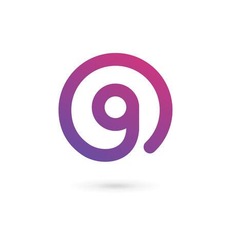 letter g: Letter G number 9 icon design template elements