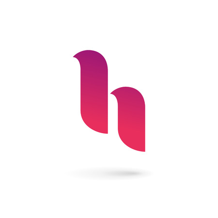 Letter H icon design template elements Vector