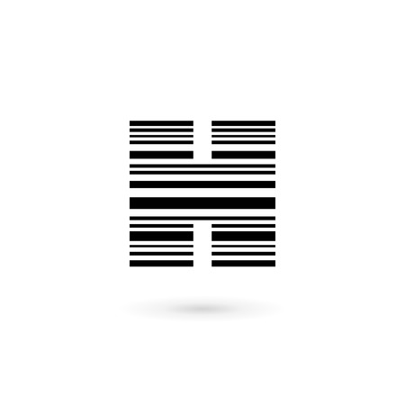 Letter H barcode logo icon design template elements Vector