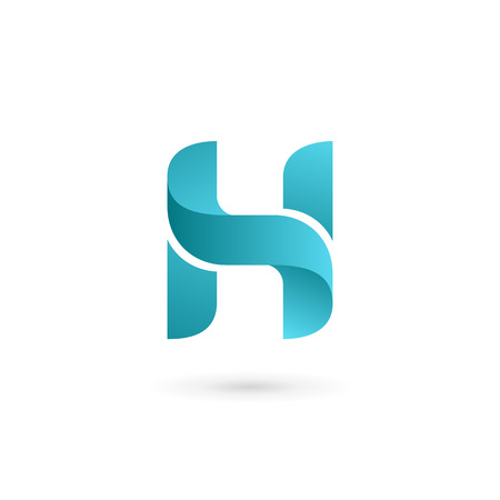 abstract logos: Letter H logo icon design template elements