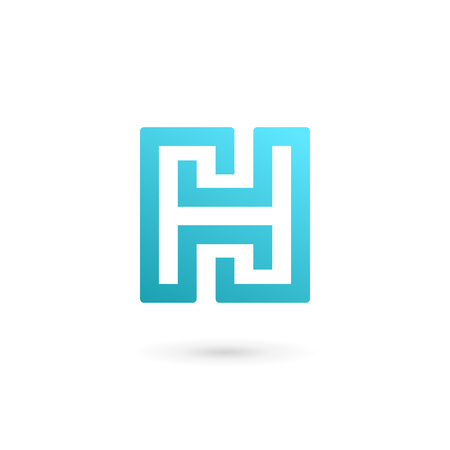 sign h: Letter H icon design template elements