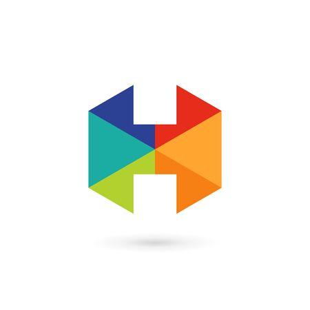 letter h: Letter H mosaic  icon design template elements Illustration