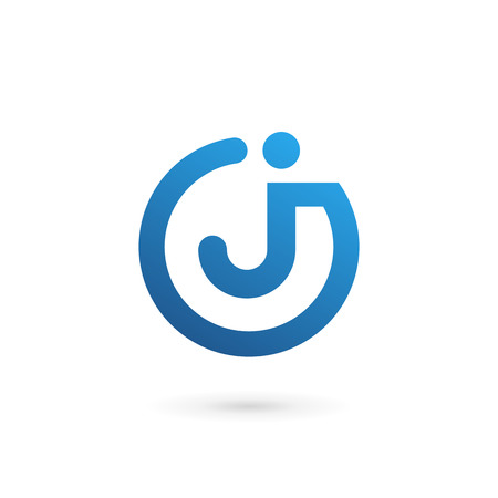 elements: Letra J logo icono elementos de plantilla de diseño