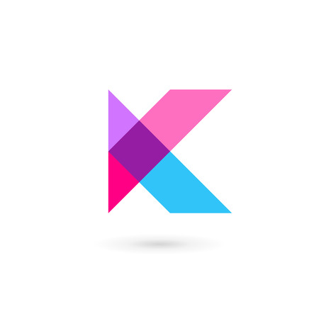 vector web design elements: Letter K  icon design template elements Illustration
