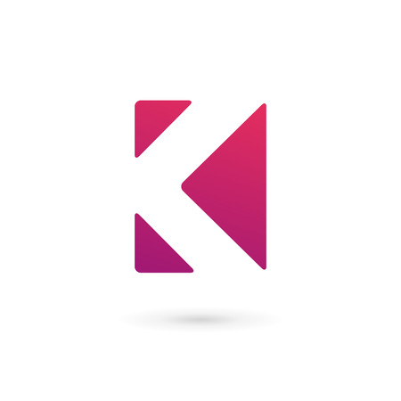 vector web design elements: Letter K logo icon design template elements