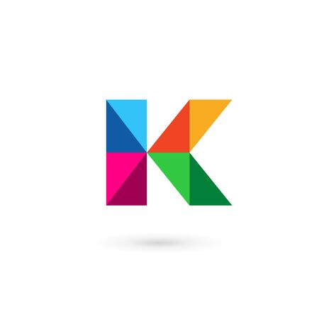 letter k: Letter K mosaic  icon design template elements Illustration