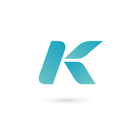 letter k: Letter K icon design template elements