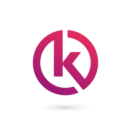 decoration elements: Letter K logo icon design template elements