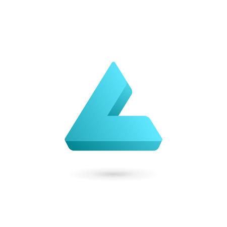 letter l: Letter L icon design template elements
