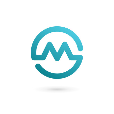 Letter M  icon design template elements