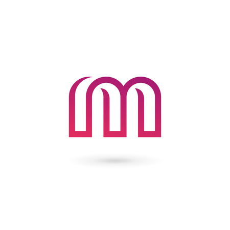 vector web design elements: Letter M logo icon design template elements