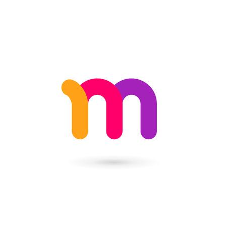 Letter M logo pictogram ontwerp sjabloon elementen Stock Illustratie