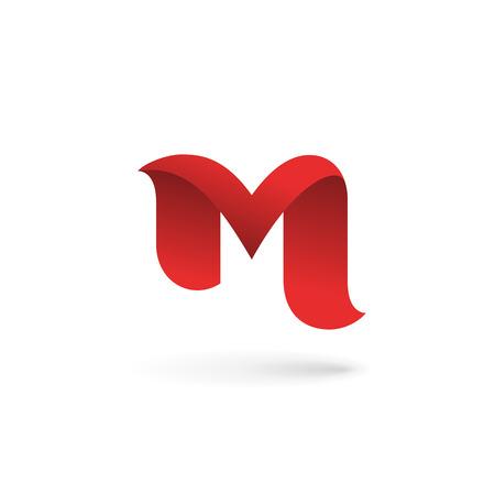 carta: Letra M logo icono elementos de plantilla de diseño