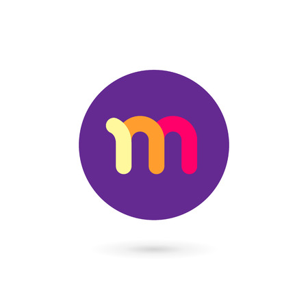 m: Letter M logo icon design template elements