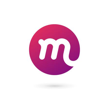 ikony: Litera M logo ikony elementy projektowania szablonów Ilustracja