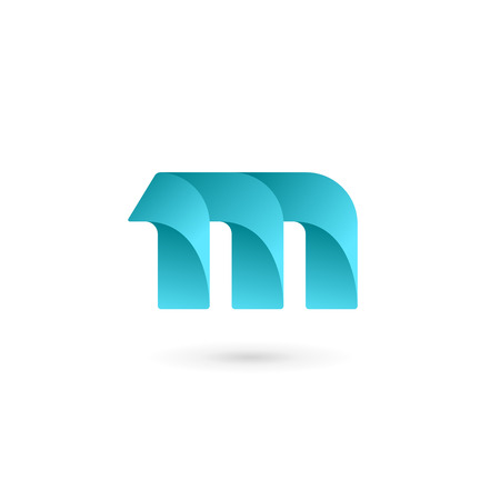 abstract logos: Letter M logo icon design template elements