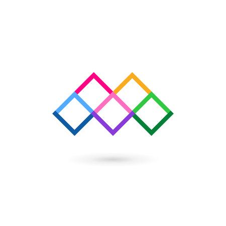 m: Letter M mosaic logo icon design template elements Illustration