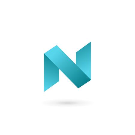 Letter N icon design template elements Illustration