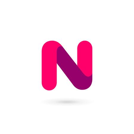 Letter N icon design template elements Illusztráció