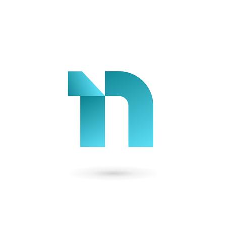 N: Letter N icon design template elements Illustration