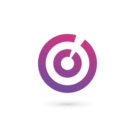 Lettre numéro de O 0 cibles des éléments de modèle de conception de l'icône