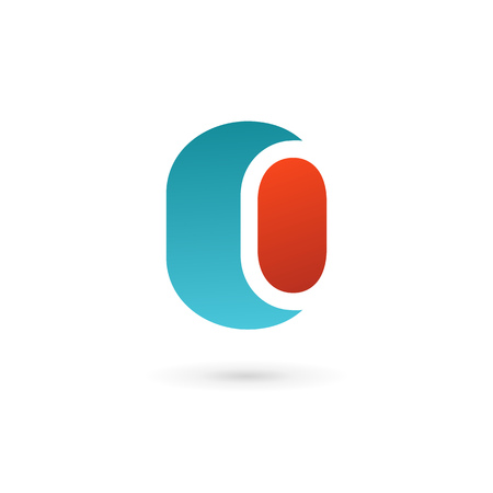 cocao: Letter O number 0 icon design template elements