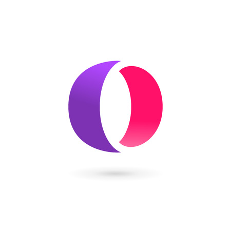 o letters: Letter O number 0 icon design template elements