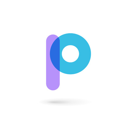 geometric design: Letter P logo icon design template elements Illustration