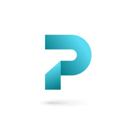 Letter P logo pictogram ontwerp sjabloon elementen