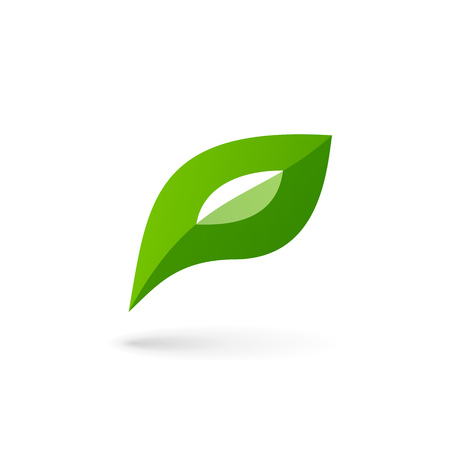 eco logo: Letter P eco leaves logo icon design template elements