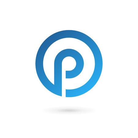 Letter P logo icon design template elements Vettoriali