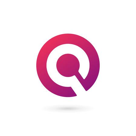 Letter Q  icon design template elements Vector