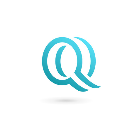 abstract letters: Letter Q  icon design template elements