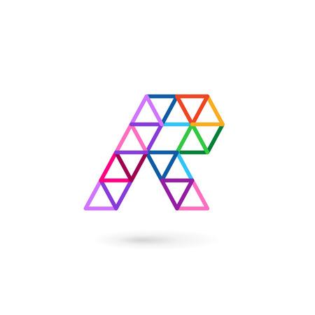 r: Letter R mosaic logo icon design template elements