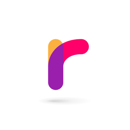 Letter R logo icon design template elements Illustration
