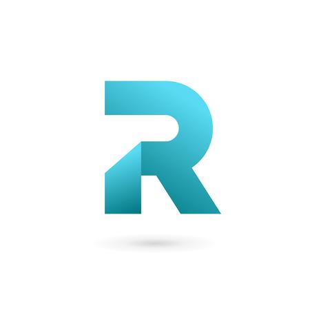 elementos: Letra R elementos de plantilla logotipo icono del diseño