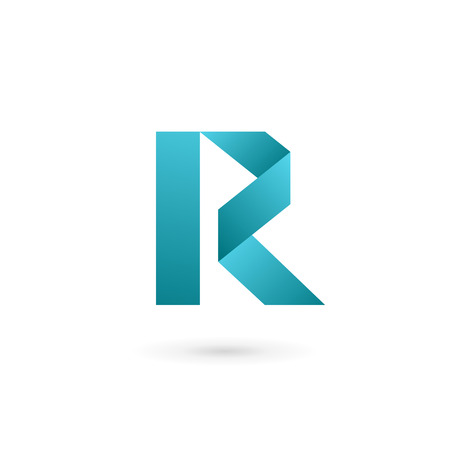 logo marketing: Letter R logo icon design template elements Illustration