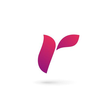 elemento: Lettera R elementi modello di logo design icon