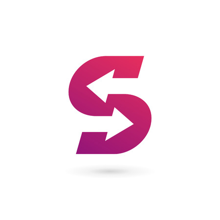 Letter S logo pictogram ontwerp sjabloon elementen Stock Illustratie