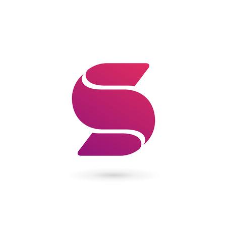 lettre s: Les éléments du modèle de conception de l'icône de lettre