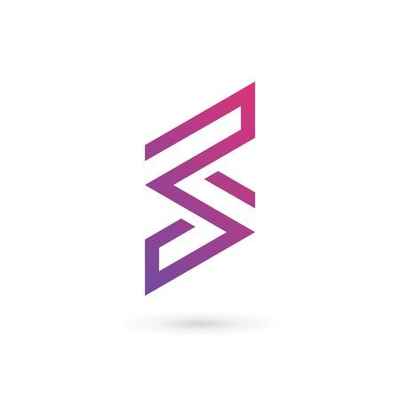 문자 S 로고 아이콘 디자인 서식 파일 요소