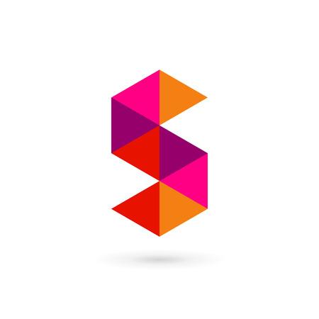 S の文字数 5 モザイク アイコン デザイン テンプレート要素