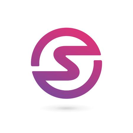 s shape: Letter S icon design template elements