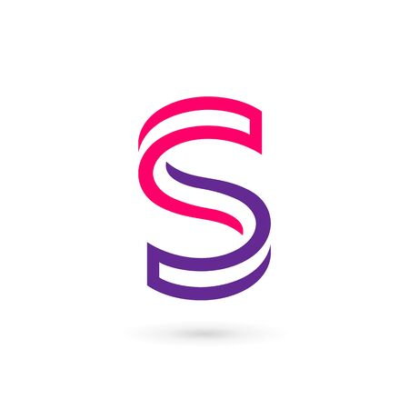 Letter S icon design template elements