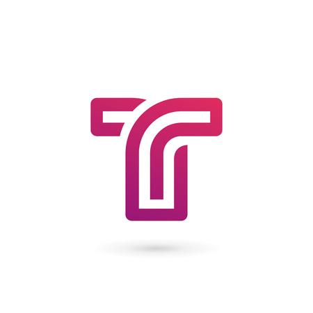 fonts vector: Letter T logo icon design template elements Illustration